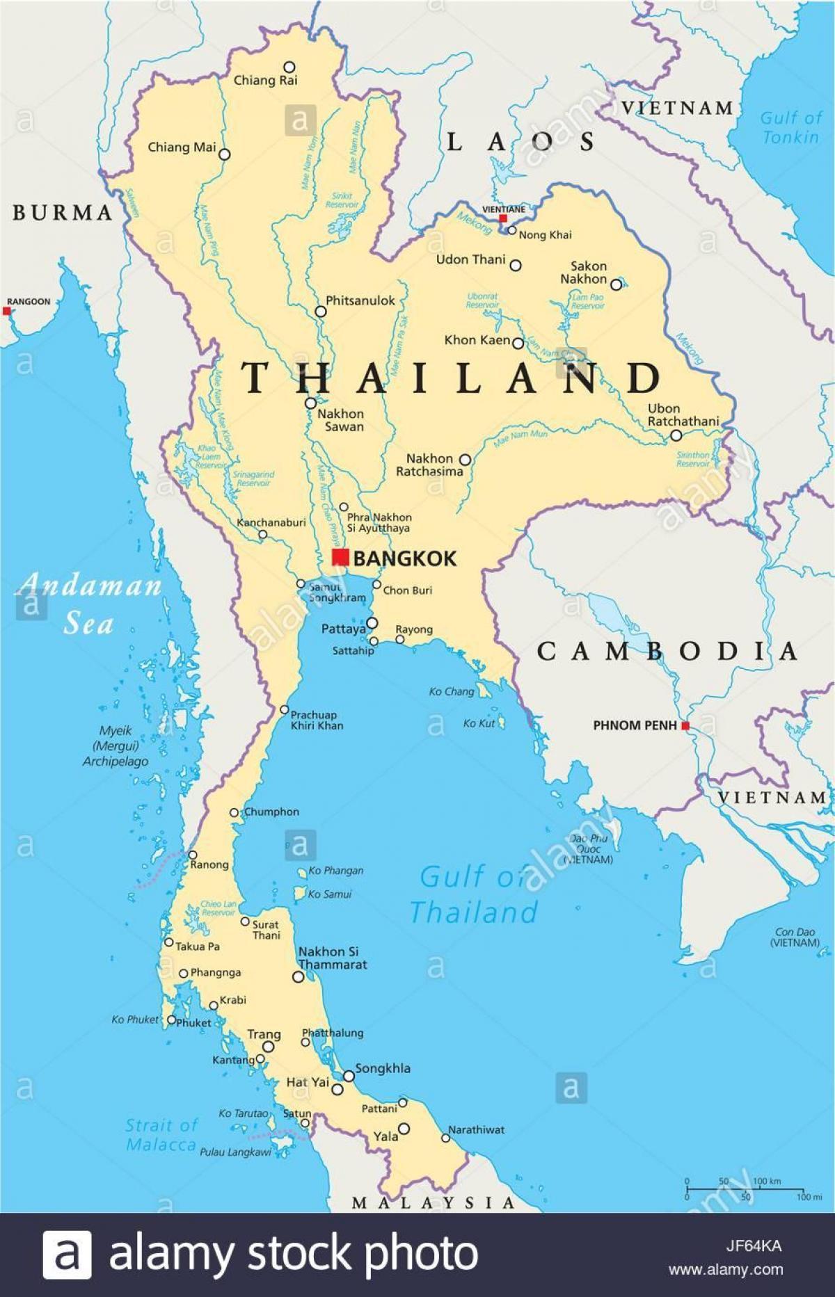 Bangkok Sijainti World Map Bangkok Thaimaa Maailman Kartta Thaimaa