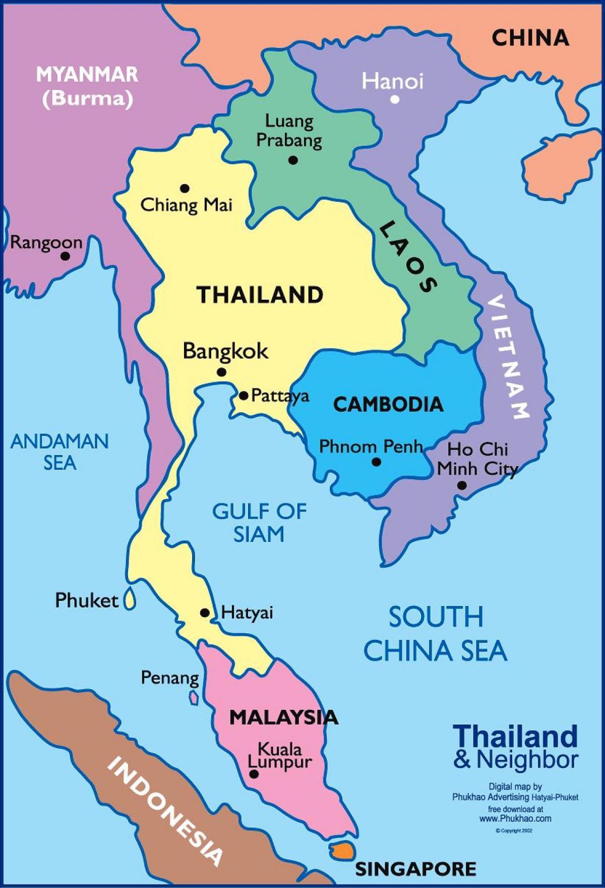 Bangkok Thaimaa Kartta Bangkok Thaimaan Kartta Thaimaa