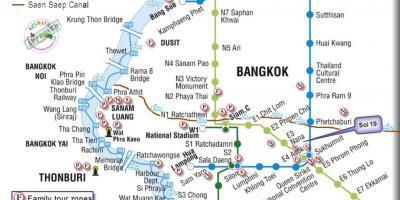 Bangkok Map Kartat Bangkok Thaimaa
